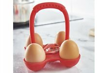 Silicone Egg Set (with Timer) (H13 x W13 x D13cm) (NEW)