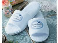 Women's white slippers