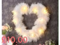 Feather Light Up Heart