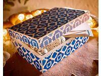 Blue & White Tile Effect Box (NEW)