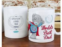Personalised Me To You Super Dad Mug (NEW)