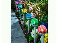 6 Crackle ball path lights