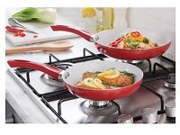 Set of 2 ceramic frying pans - brand new boxed
