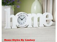 Personalised Wooden Home Clock