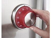 Magnetic Kitchen Timer (W4 x Diam. 9cm) (NEW)
