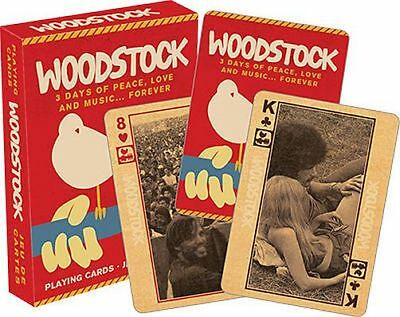 WOODSTOCK - PLAYING CARD DECK - 52 CARDS NEW - CLASSIC CONCERT 52281