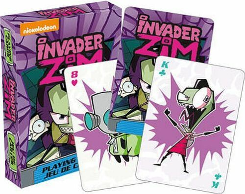 INVADER ZIM - PLAYING CARD DECK - 52 CARDS NEW - NICKELODEON TV 52495