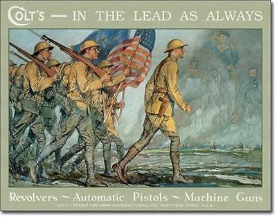 Colt Revolver USA Army Südstaaten Klassik USA Metall Deko Plakat