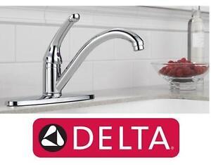 NEW DELTA 1-HANDLE KITCHEN FAUCET Chrome - SINK FAUCET HOME IMPROVEMENT 103219001