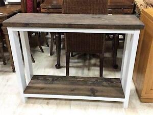NEW Rustic Wood Sofa Table