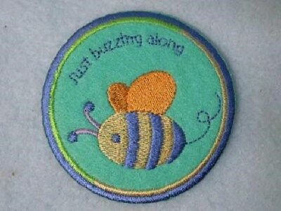 Pooh Just Buzzing Along Bee Iron On Patch Applique](Bee Buzzing)