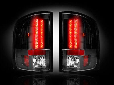 Recon SMOKED LED Tail Lights GMC SIERRA Single Wheel 2007-2013 # 264189BK
