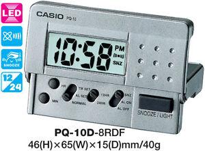 AUSSIE SELLER CASIO CLOCK PQ-10D-8RD PQ10 ALARM LED LIGHT 12 MONTH WARRANTY