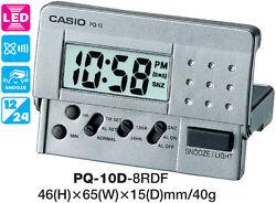 CASIO CLOCK PQ-10D-8RD PQ10 ALARM LED LIGHT 12 MONTH WARRANTY