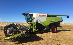 2012 Claas Lexion 760tt header with 42 ft honeybee front Holbrook Greater Hume Area Preview