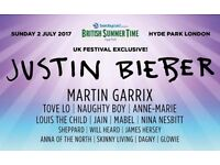 6 x Justin Bieber tickets face value for Hyde park 2nd July