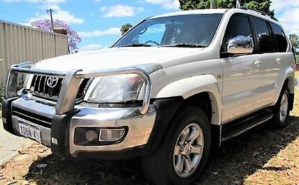 2008 Toyota Landcruiser Prado GRJ120R 07 Upgrade Grande (4x4) Pearl White 5 Speed Automatic Wagon
