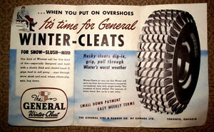 General Tire brochure from 1956-- $8 London Ontario image 2