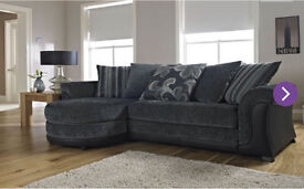 Fusion 3 seater fabric sofa with chaise