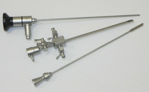 2.7mm 30° Scope, Sheath w/ Working Channel & Obturator