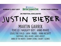 6 x Justin Bieber Hyde park 2nd July for face value