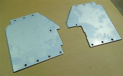 LAND ROVER SERIES 2/2A INNER WING MUDSHIELD SPLASH PLATE SET/STEERING BOX COVER