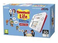 Nintendo 2ds TomoDachi life console bundle