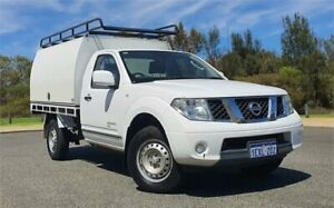 2012 Nissan Navara D40 MY12 RX (4x4) White 6 Speed Manual Cab Chassis Cannington Canning Area Preview