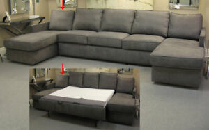 King size pullout coach with flanking chaise for sale!