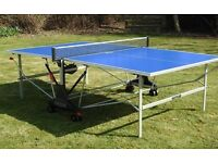 Table tennis table with cover 2 bats and balls