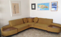 1970's vintage Newport sectional chesterfield!