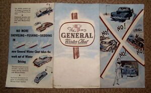 2 different General Tire 1948 ads --2 for $6.00