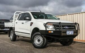 2013 Ford Ranger PX XL Double Cab White 6 Speed Manual Cab Chassis Wangara Wanneroo Area Preview