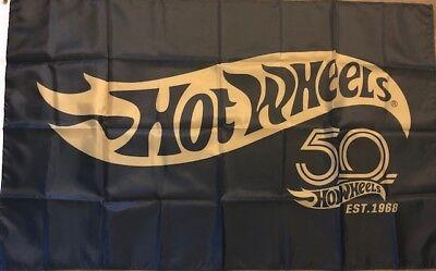 Hot Wheels 50th Anniversary Flag 3x5 Banner car Racing Kids Playroom