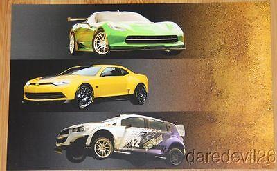 2014 Transformers 4 Chevy Corvette Stingray Camaro Sonic Rally Sema Info Card