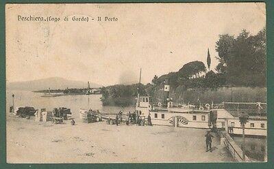 VENETO. PESCHIERA, Verona. Il porto. Cartolina viaggiata nel 1916