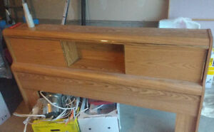 queen headboard with rails, complete set for free