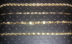 Beautiful Faux Gold Bracelets, They Look Real
