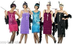 Ladies-Flapper-1920s-Costume-Charleston-Dress-Jazz-Fringed-Flapper ...