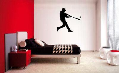 BASEBALL PLAYER DECAL WALL VINYL DECOR STICKER BEDROOM SPORTS KIDS CHILDREN - Baseball Wall Decor