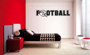 FOOTBALL DECAL WALL VINYL DECOR STICKER ROOM SPORTS Football Decal Kids Room