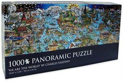 Charles Fazzino 1000 Panoramic Jigsaw Puzzle We Are The World