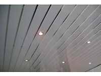 Ceiling panels gloss silver strip kitchen bathroom roof cladding