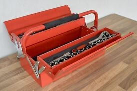 Red 2 Tier Cantilever Tool Box With Tools