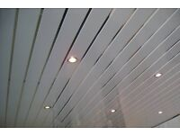 Ceiling panels silver strip cladding wet wall kitchen bathroom roof