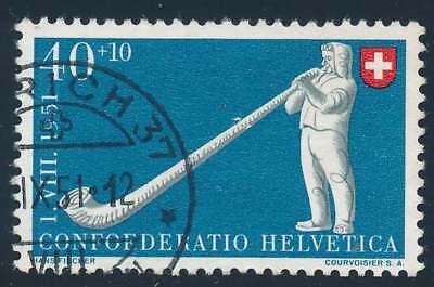 Schweiz Nr. 559 gestempelt, 40 + 10 C. Pro Patria 1951 (40337)