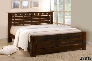 Queen Birkley solid hardwood bed frame, platform, NEW in boxes