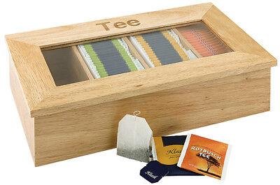 Teebox Teespender Multibox Portionsspender Teedose 33,5 x 20 x 9 cm Tee hell