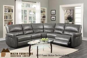CONTEMPORARY POWER MOTION SECTIONAL IN GREY AIREHYDE-MATCH 04-15-17