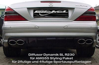 Mercedes SL R230 Diffusor Dynamik für AMG Stylingpaket SL R230 bis 03.2008